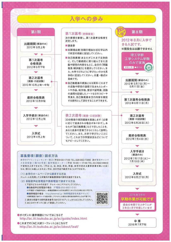 AC入試リーフレット 平成25年度版5