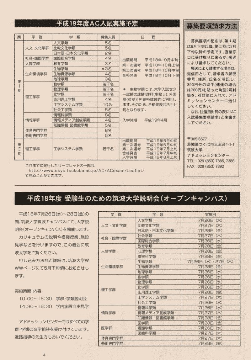AC入試リーフレット 平成19年度版4