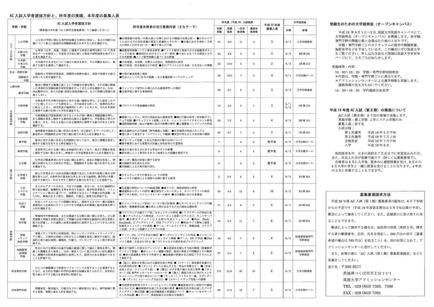 AC入試リーフレット 平成20年度版2-3