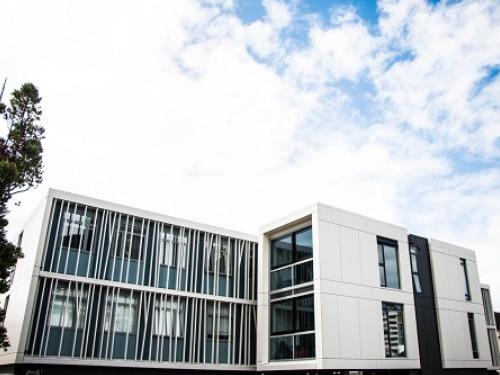 ニュージーランド高校留学 ウェリントンWellington クイーン・マーガレット・カレッジ 私立、女子校 Queen Margaret House(学生寮)新しい寮