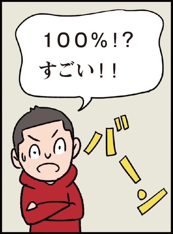 100%!? すごい!!