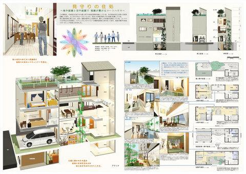 第1回建築設計競技「3世代が住む狭小住宅」