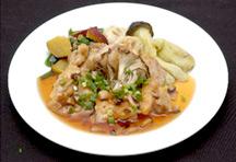 秋色フェア 若鶏と秋野菜の茸ソース