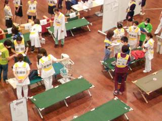 石巻赤十字病院大規模地震災害実働訓練ボランティア