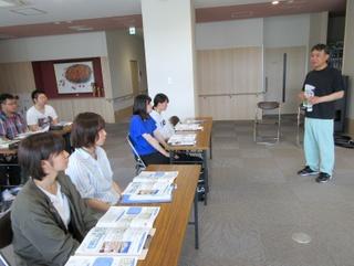 実習指導者の新谷様より施設概要について説明を受けました。
