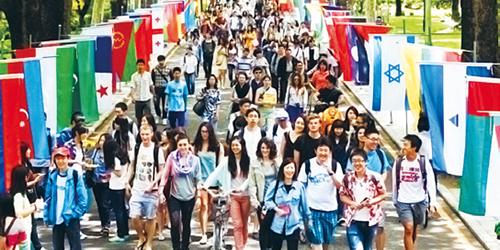 1.「小さな国連」と呼ばれる 国際型大学