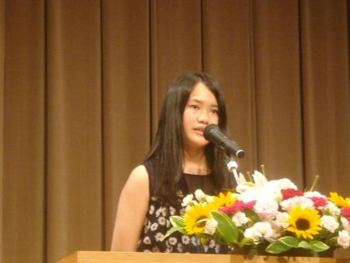 日本語スピーチ大会出場