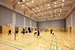 Physical exercise facilities and student club rooms
