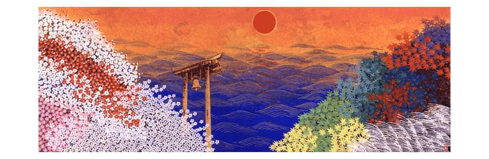 「日本の新しい朝の光」ステンドグラス原画