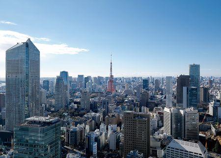 東京霞が関オフィスから東京の街を一望