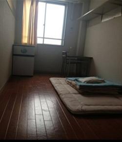 学生が住む洋室例。