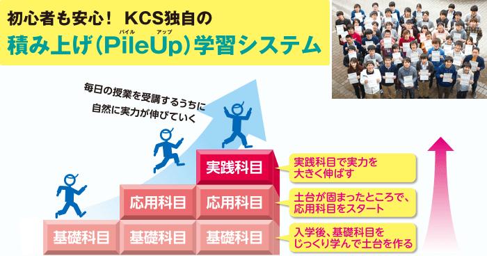 初心者も安心!KCS独自の積み上げ(PileUp)学習システム