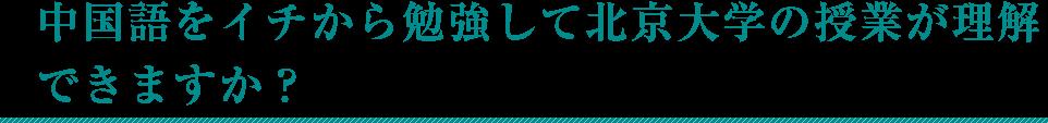 中国語をイチから勉強して北京大学の授業が理解できますか?