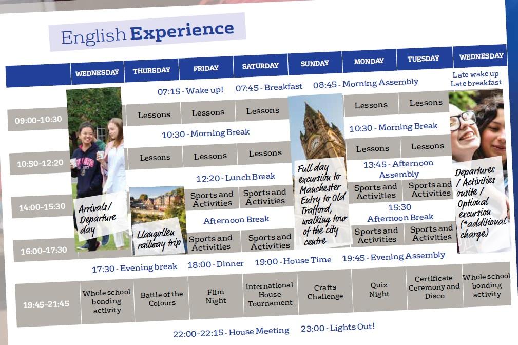 小学生 中学生 高校生 短期留学 夏休み留学 イギリス・エディンバラ 英語+アクティビティ ボーディングスクール 学生寮 International House London IHL スケジュール