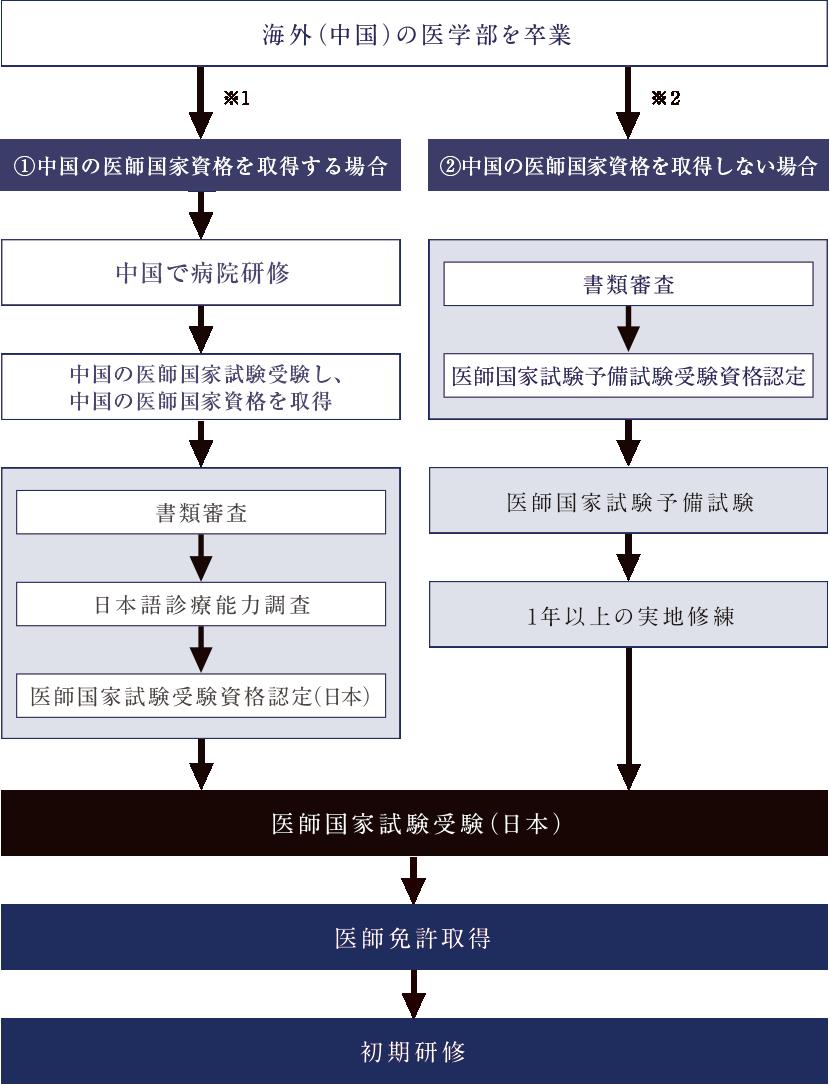 日本の医師免許取得までのプロセス