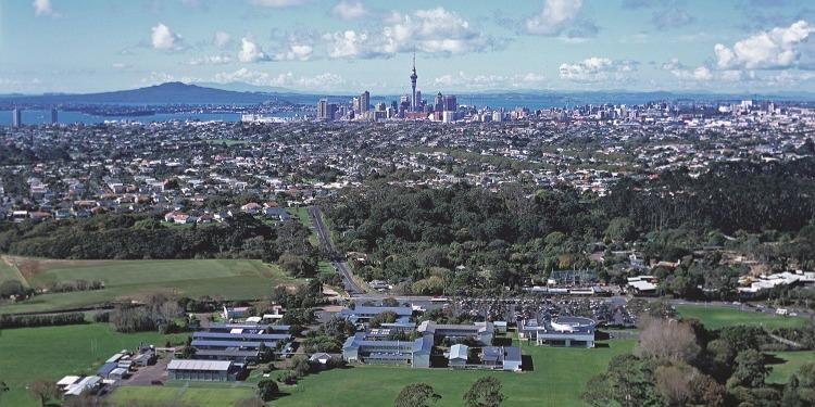 ニュージーランド高校留学 オークランド 公立高校 ウェスタンスプリングスカレッジ(Western Springs College)共学 私服 ホームステイ滞在 選択科目が豊富 自然と都会 キャンパス