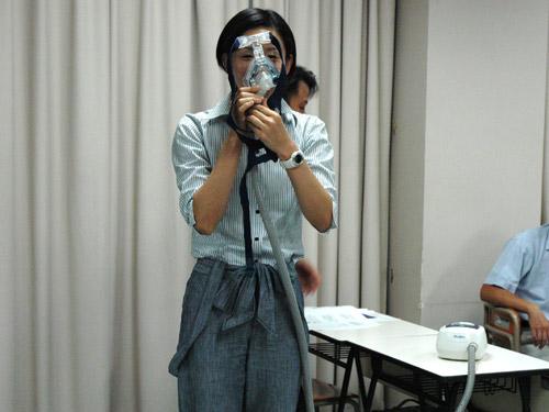 鼻マスク(CPAP)の使用例