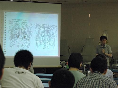 スライドを用いた講義風景