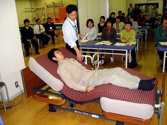 電動ベッド適応の指導