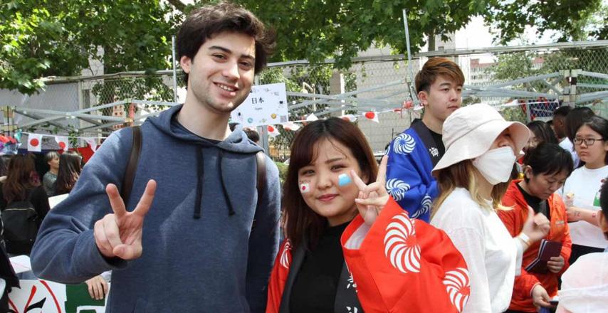 北京語言大学東京校から北京本校へ留学中の在学生が作成した「世界文化祭」の様子動画
