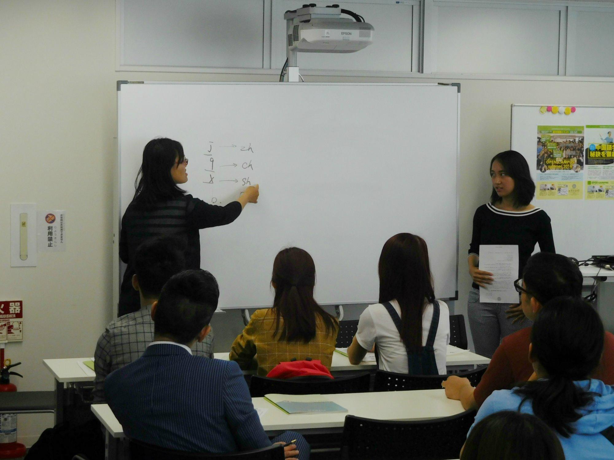在学生が通訳として参加