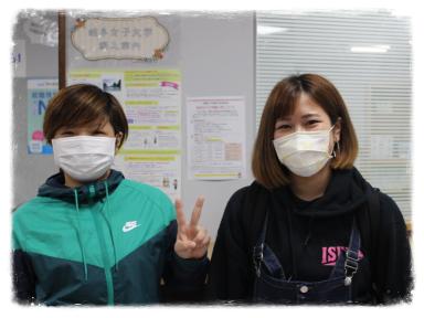 沖縄女子短期大学の対面授業を部分的に開始し学生達が校舎に戻ってきました。