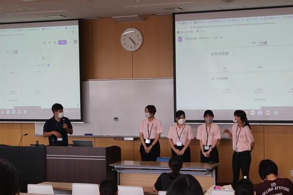 在学生とのQAコーナーです。高校生は自分のスマホから何でも質問できるので聞きやすいと好評です。