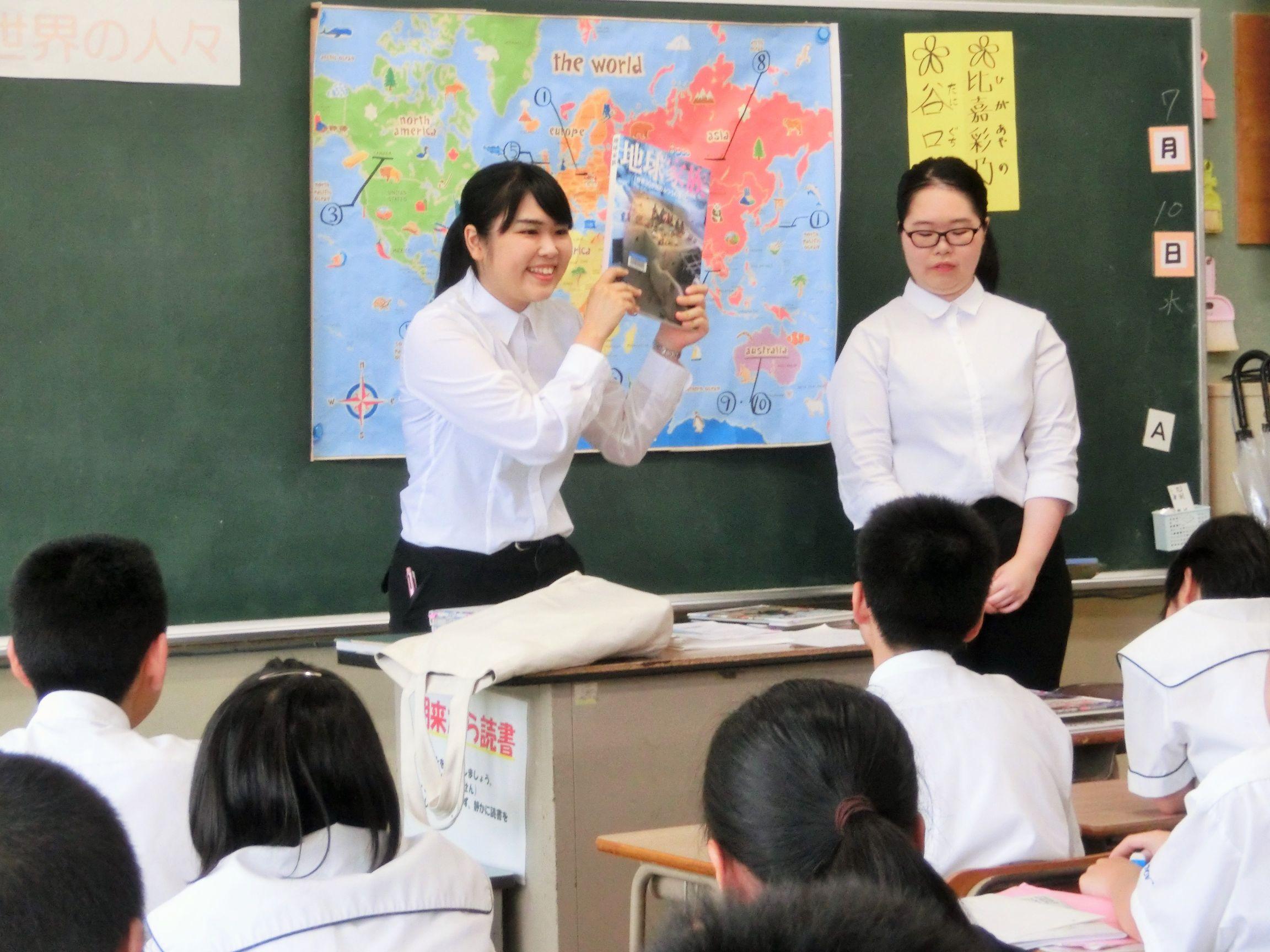 司書教諭課程受講生が浦添市の中学校で「ブックトーク」を行いました ...