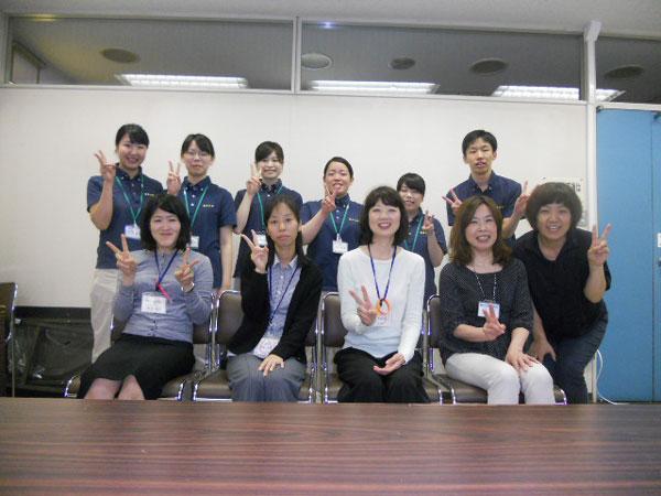 最後に学生と指導者で記念撮影