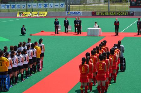 立命館大学の新グランドで日本リーグ開幕