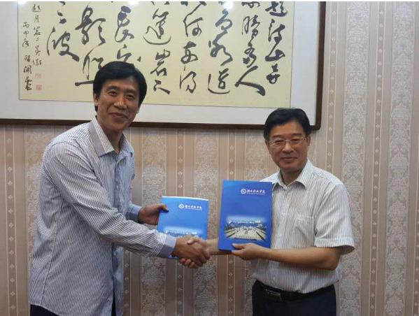 湖南科技学院宋副学長と会談の様子(写真は同大学HPより)