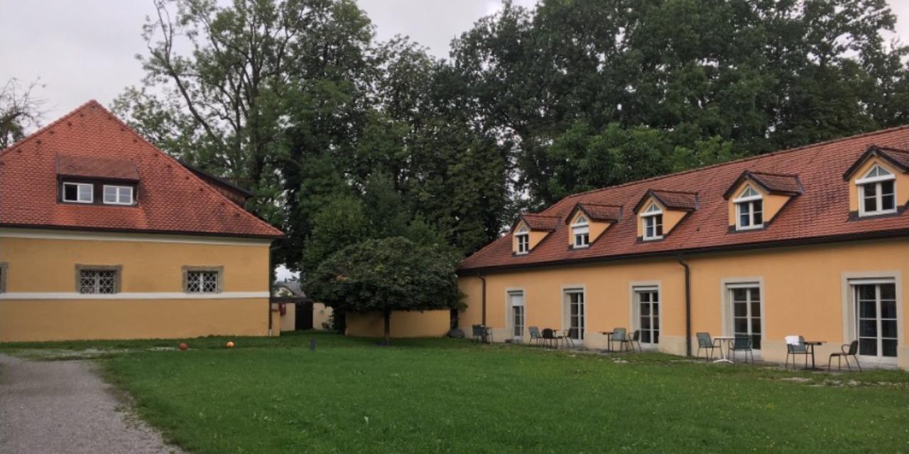 学生寮中庭